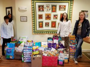 A Cat Clinic's generous clients donated food for AWLMC