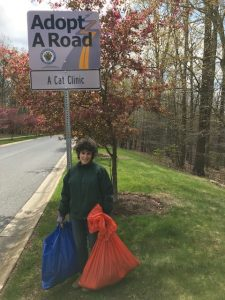 A Cat Clinic cat hospital in Germantown, MD participates in Adopt A Road program