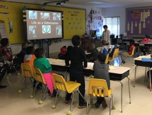 Dr. Dale Rubenstein at Career Day, Germantown ES