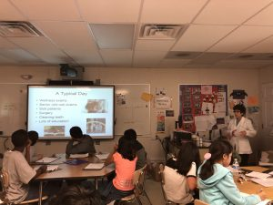 Dr. Dale Rubenstein at McCauliffe Elementary School Career Day 2019