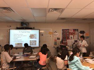 Dr. Dale Rubenstein at McCauliffe Elementary School Career Day 2019