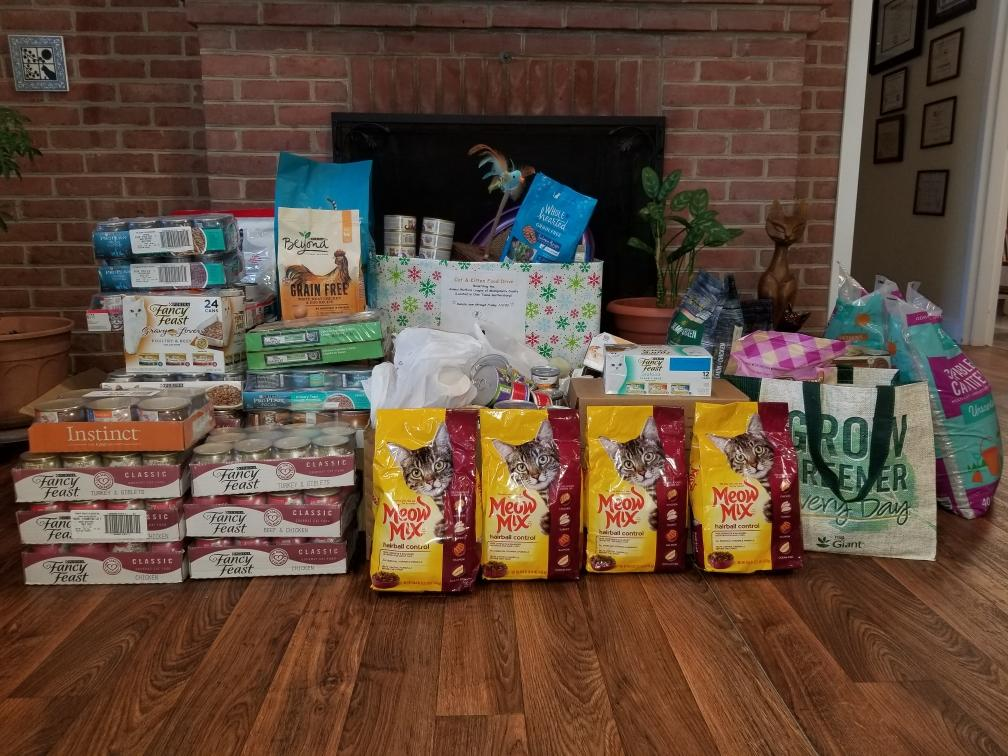 Annual Holiday Cat Food Drive, A Cat Clinic, Germantown, MD